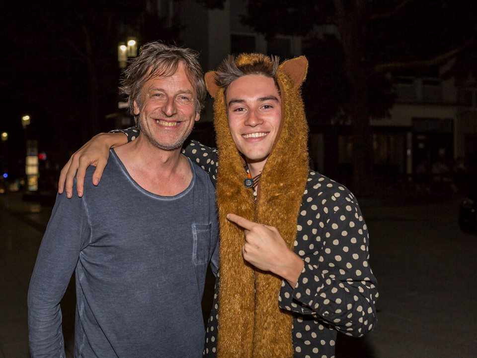 Uwe Bogen und Grammy-Preisträger und Youtube-Star Jacob Collier bei der After-Show-Party der Jazz Open 2017 Foto: Andreas Engelhard